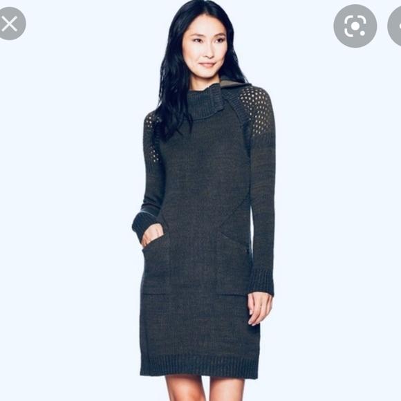 NWT prAna Archer Sweater Dress, Gray, Small